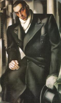 Tamara Lempicka. Tadeusz Lempitski (Portrait of a Man, Unfinished)