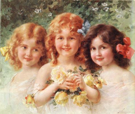 Emile Vernon. Three sisters
