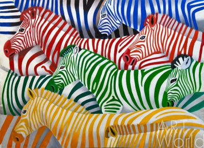 (no name). Zebra. Multicolored monochrome