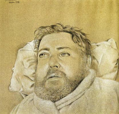 Люсьен Фрейд. Портрет Кристиана Берара