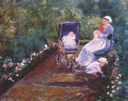 Mary Cassatt. The children in the garden