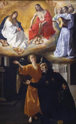 Франсиско де Сурбаран. Видение блаженного Алонсо Родригеса