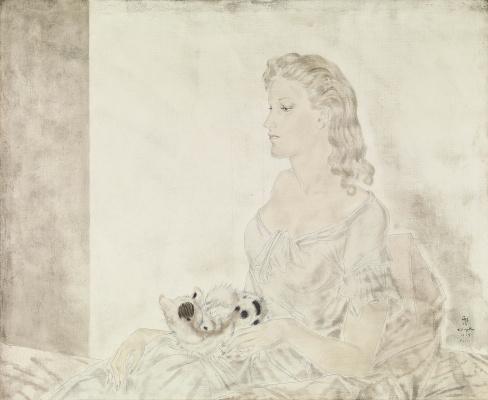 Zuguharu Fujita (Léonard Fujita). Femme au Petit Chat