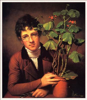 Рембрандт Пил. С геранью