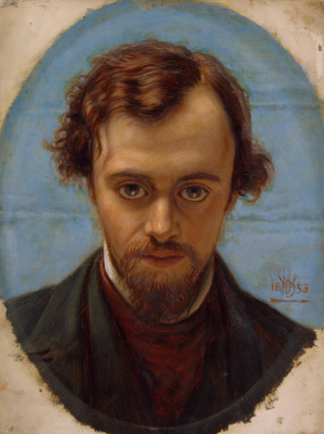 William Holman Hunt. Portrait of Dante Gabriel Rossetti at 22 years of age