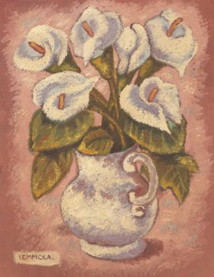 Tamara Lempicka. Vase with Flowers