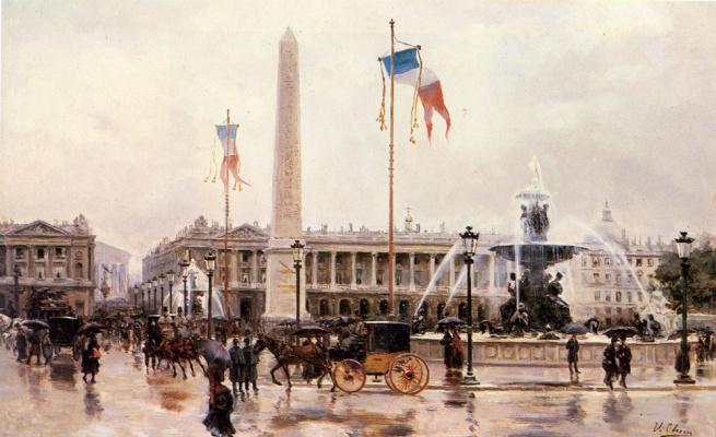 Ульпиано Чека. Вид на площадью Конкорд