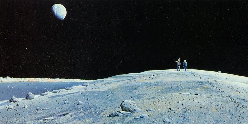 William Hartmann. The moon