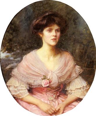 John William Waterhouse. Portrait of Mrs. Alex Henderson Puleston