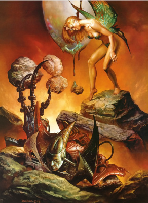 Boris Vallejo (Valeggio). World without meaning