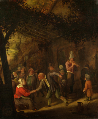 Jan Steen. Farmers are having fun at the hotel