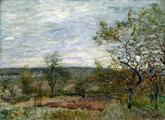 Alfred Sisley. Windy day in Vienna