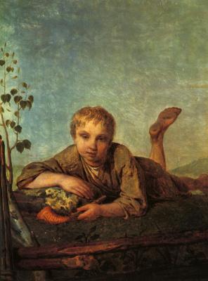 Алексей Гаврилович Венецианов. Пастушок с рожком