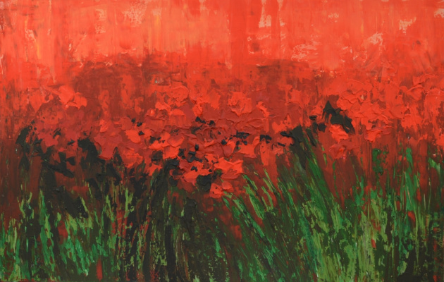 "Tanya Vasilenko. ""Poppies"", acrylic on canvas. Poppies. Acrylic on canvas."