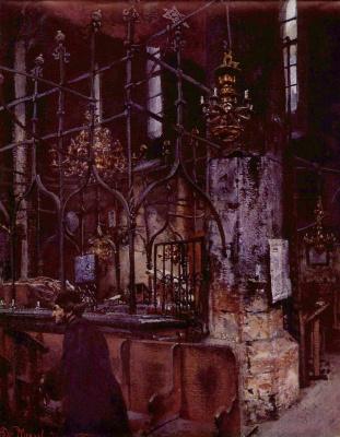 Adolf Friedrich Erdmann von Menzel. The old-new synagogue in Prague