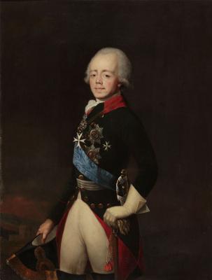 Unknown artist. Portrait Of Paul I