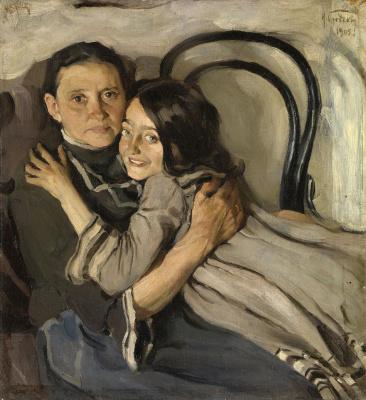Исаак Израилевич Бродский. Портрет матери и сестры художника