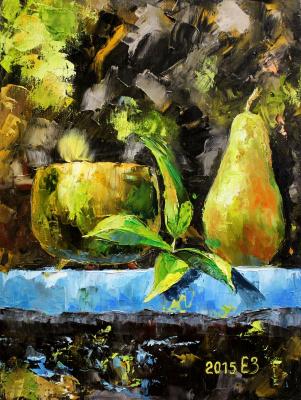 Elena Nikolaevna Zorina. Still life with a pear