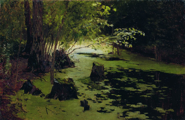 Isaac Levitan. River backwater (Pond)