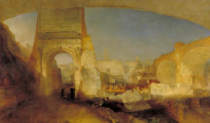Joseph Mallord William Turner. Roman forum Museum of Mr. Soane