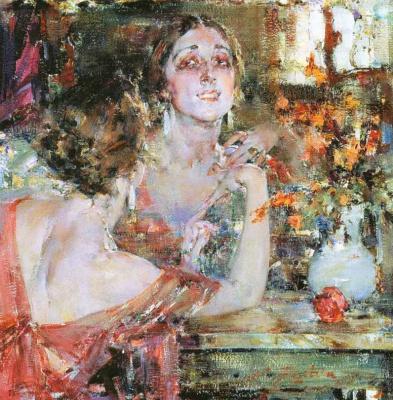 Nikolay Feshin. Portrait Of Vera Fokina.