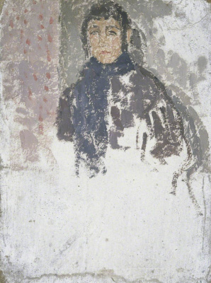 Гвен Джон. Study for 'Young Woman in a Mulberry Dress'