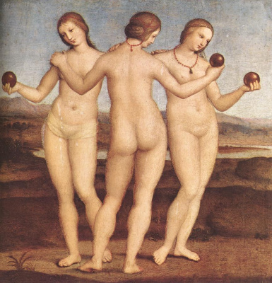 Raphael Sanzio. The three graces