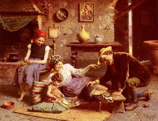 Эухенио Зампиги. Голод в Турции