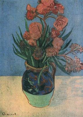 Vincent van Gogh. Vase with oleanders