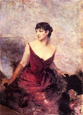 Джованни Больдини. Графиня де Расти, сидящая в кресле.