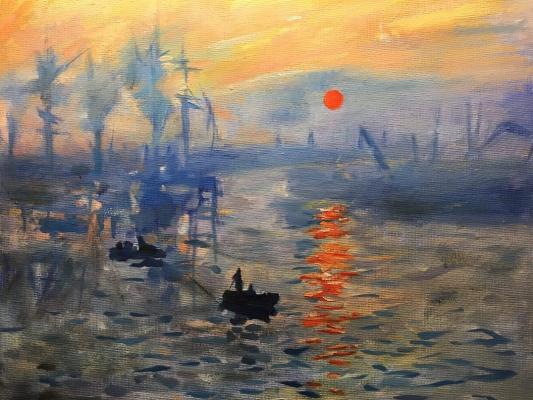 Valeria. Monet's copy of Sunrise