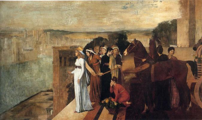 Эдгар Дега. Семирамида строит Вавилон