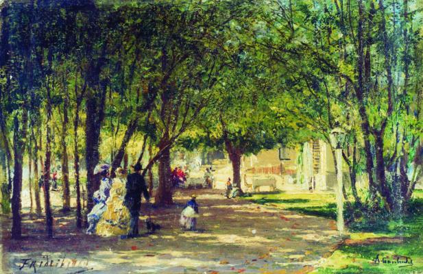 Alexey Petrovich Bogolyubov. Alley. Fredensborg. 1867