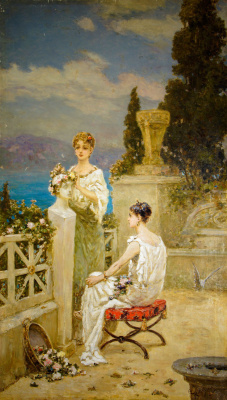 Wilhelm Kotarbinsky. Girls on the terrace