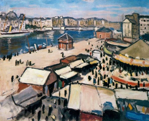 Albert Marquet. Fair in Le Havre