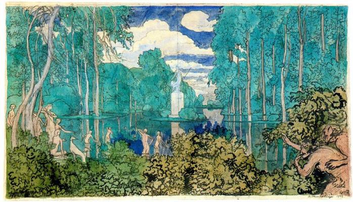 Alexander Nikolaevich Benoit. The pond in the Park