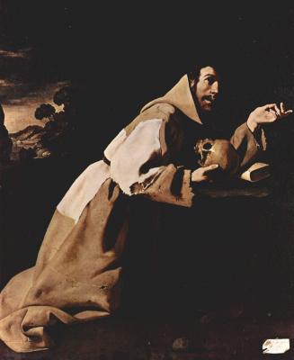 Франсиско де Сурбаран. Покаяние св. Франциска