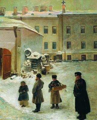 Konstantin Makovsky. Courtyard of St. Petersburg