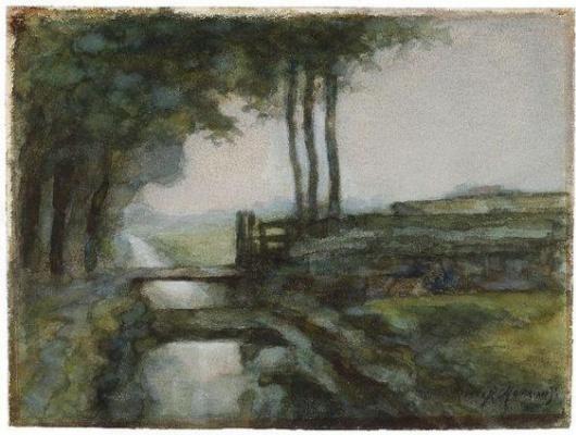 Пит Мондриан. Пейзаж с канавой