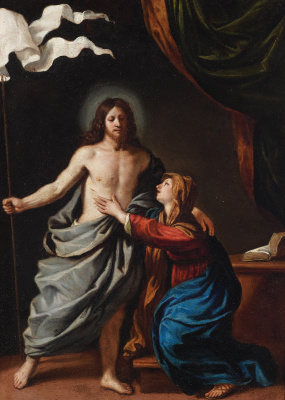 Giovanni Francesco Guercino. The Risen Christ appears to the Virgin
