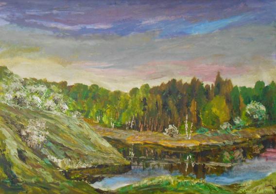 Владимир Иванович Осипов. Blossoming cherries on Venevka