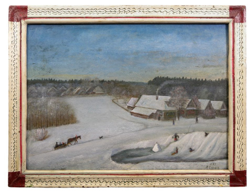 Alexander Vasilyevich Suvorov. Winter day
