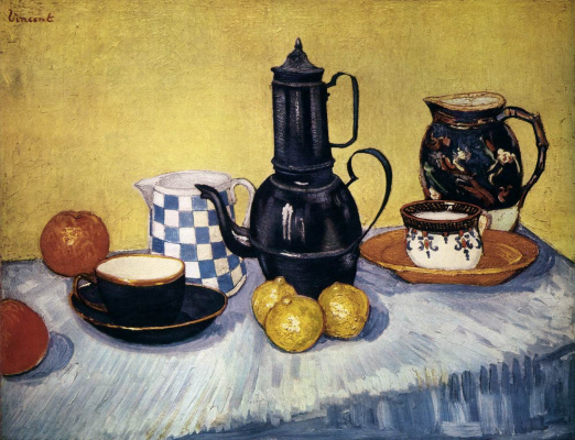 Vincent van Gogh. Coffee and fruit