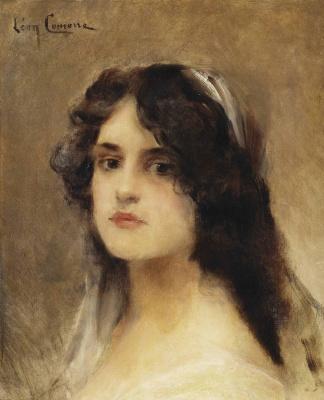 Leon Francois Comerre. Portrait of a woman.