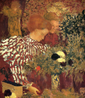Jean Edouard Vuillard. Woman in striped dress