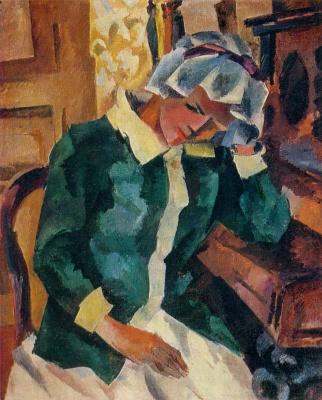 Роберт Рафаилович Фальк. Портрет женщины у пианино