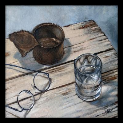 Olga Ray. Still life with a glass