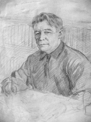 Vasily Fadeevich Demin. Self-portrait