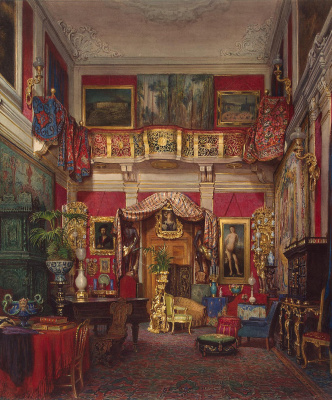 Эммануэль Штоклер. Зал на вилле Куарто вблизи Флоренции