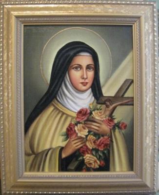 Ядвига Сенько. Saint Teresa - the icon of the Catholic (oil on canvas)